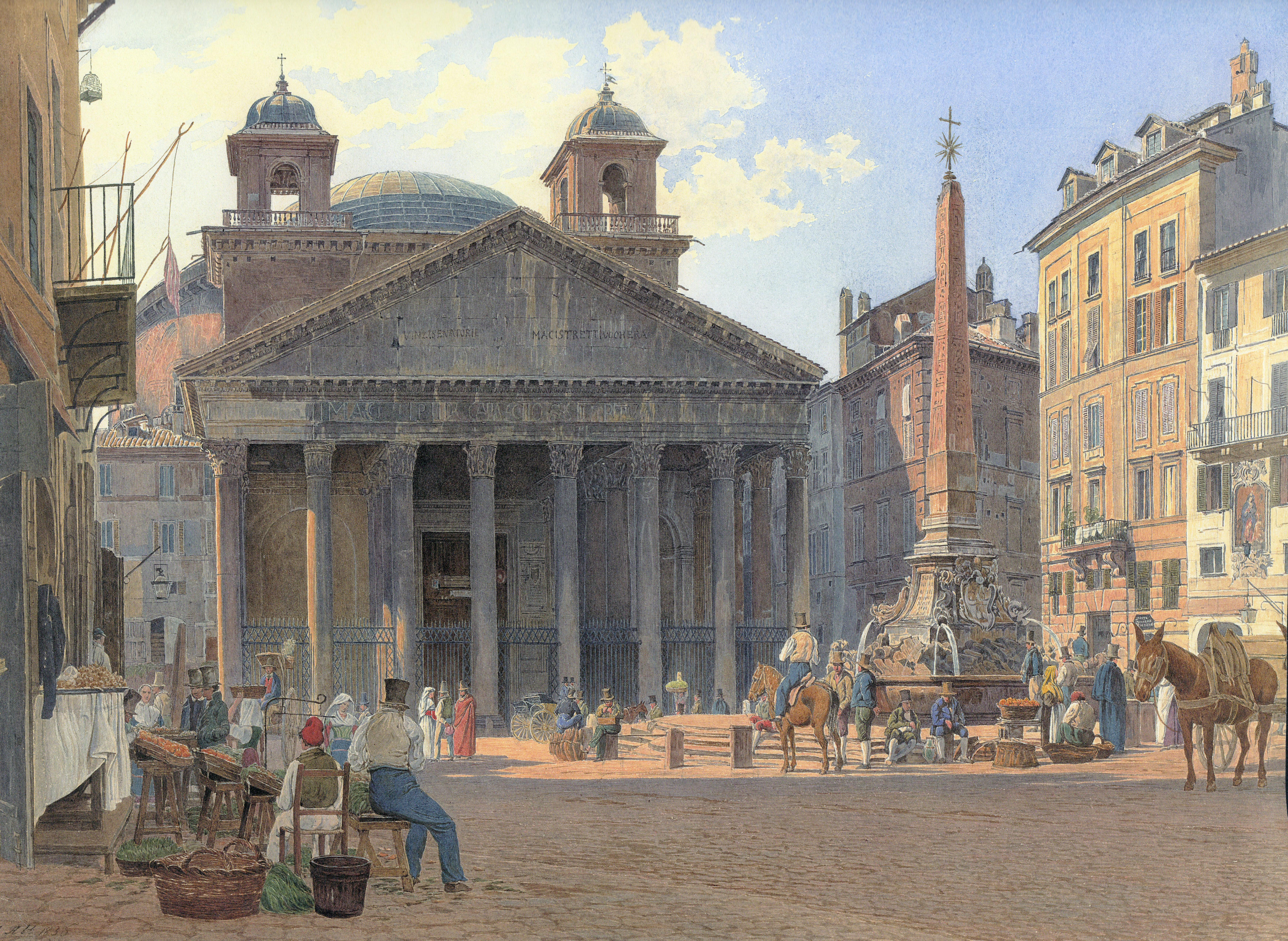 jakob_alt_-_das_pantheon_und_die_piazza_della_rotonda_in_rom_-_1836