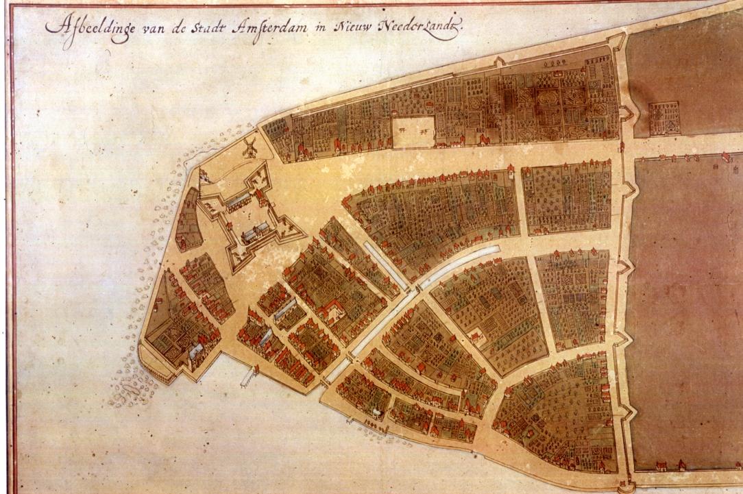 Mapa Manhattanu z 1660 r zwana Mapą Castello