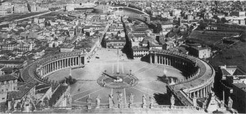 Widok na Plac św. Piotra Via della Conciliazione rok 1900