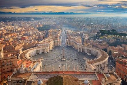Widok na Plac św. Piotra i Via della Conciliazione obecnie