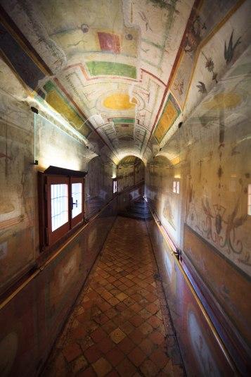 Korytarz Pompeiano, dekoracje wykonał Perino del Vaga