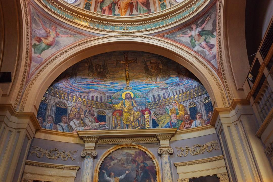 Mozaika z IV w w absydzie kościoła św. Pudencjany